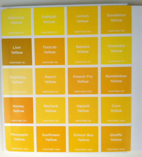 Shades Of Yellow Names Pantone Colors Design The Picture Book